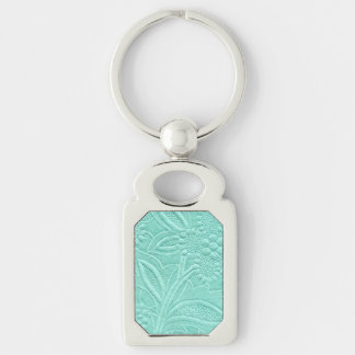 Mint Green Floral Key Ring