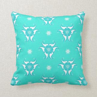 mint green floral vintage pattern design pillow