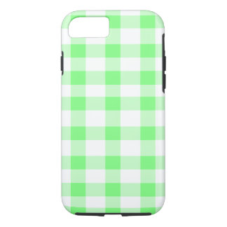 Mint Green Gingham iPhone 7 Case