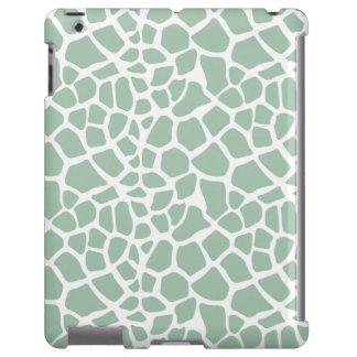 Mint Green Giraffe Print