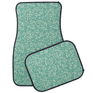 Mint Green Glitter And Sparkles. Car Mat