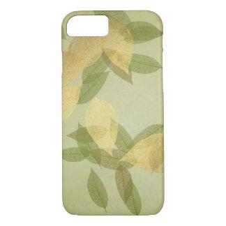 Mint Green Golden Confetti Leafs iPhone Samsung iPhone 7 Case