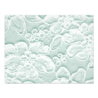 Mint Green Lace Invites