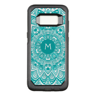 Mint Green Mandala Monogram Customisable Colour OtterBox Commuter Samsung Galaxy S8 Case