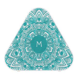 Mint Green Mandala Monogram Customizable Color