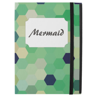 Mint Green Mermaid Fish Scales Tone Octagon