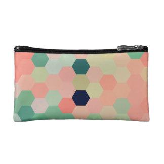 Mint Green Mermaid Fish Scales Tone Octagon Cosmetic Bag