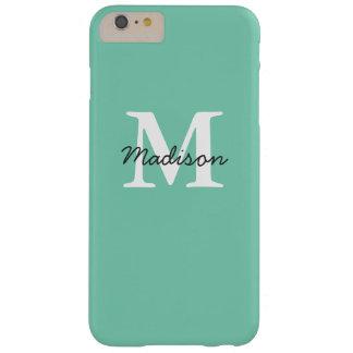 Mint Green Monogram iPhone 6+ Case