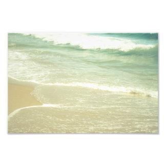 Mint Green Ocean Pastel Beach Photography Photograph