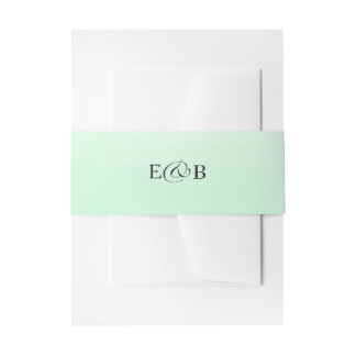 Mint Green Ombre | Wedding Invitation Belly Band