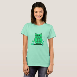 Mint Green Owl Women's Basic T Shirt