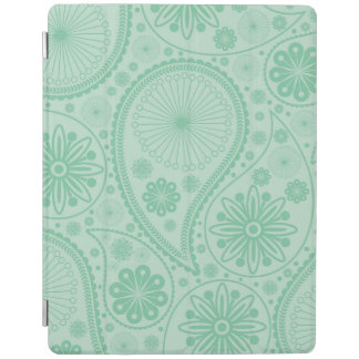 Mint green paisley pattern iPad cover