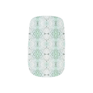 Mint Green Pastel Spring Nail Art Wraps Decals