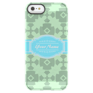 Mint Green pattern with Personalized Name