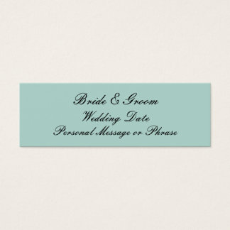 Mint Green Personalized Wedding Favor Tag Template