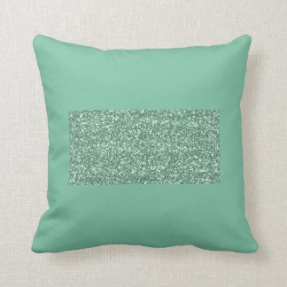 Mint Green Pillow with Faux Glitter