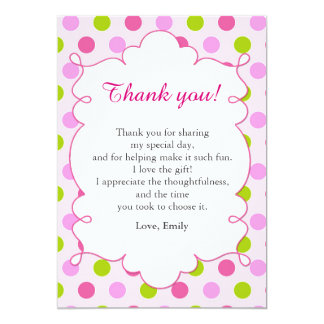 Mint Green Pink Thank You Card Note