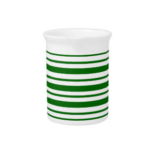 Mint Green Pinstripes Pitcher