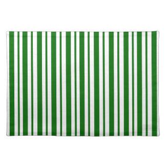 Mint Green Pinstripes Placemat