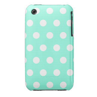 Mint Green Polka Dot iPhone 3G Case iPhone 3 Cover