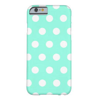 Mint Green Polka Dot iPhone 6 case Barely There iPhone 6 Case