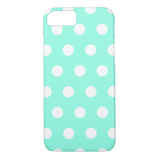 Mint Green Polka Dot iPhone 7 case