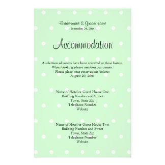 Mint Green Polka Dot Pattern. Wedding Flyer Design