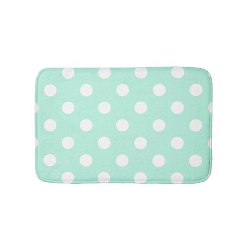mint green polka dots bathroom rug bath mats zazzle