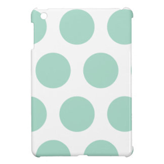 Mint green polka dots case for the iPad mini