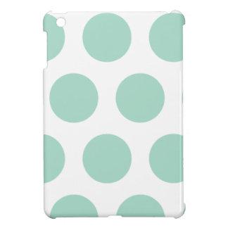 Mint green polka dots iPad mini cover