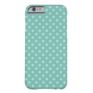 Mint Green Polka Dots Modern Pattern PD004 Barely There iPhone 6 Case