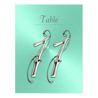 Mint Green Sheen Table Number 11 Postcard