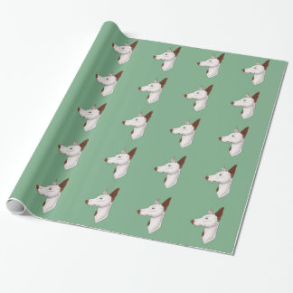 Mint Green Smooth Ibizan Hound Wrapping Paper