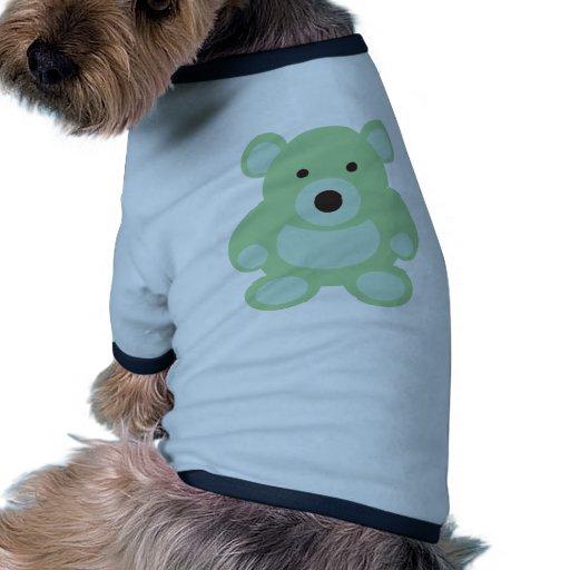 Mint Green Teddy Bear Doggie Tshirt