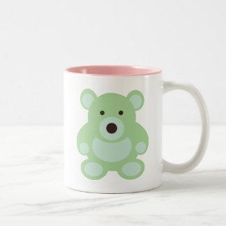 Mint Green Teddy Bear Coffee Mugs