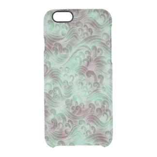 Mint Green Tsunami Ocean Tidal Wave Plum Color Sea Clear iPhone 6/6S Case