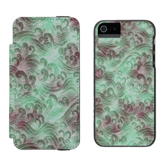 Mint Green Tsunami Ocean Tidal Wave Plum Color Sea Incipio Watson™ iPhone 5 Wallet Case