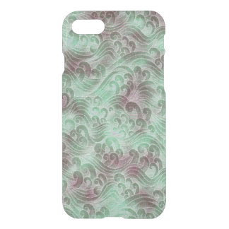 Mint Green Tsunami Ocean Tidal Wave Plum Color Sea iPhone 7 Case