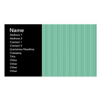 Mint Green Vertical Stripes Business Card Templates