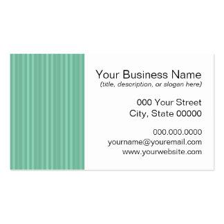 Mint Green Vertical Stripes Business Card