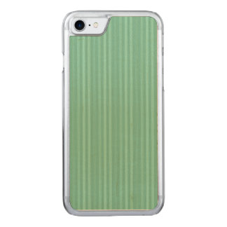 Mint Green Vertical Stripes Pattern Carved iPhone 7 Case