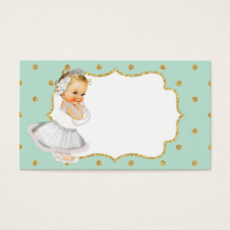 Mint Green Vintage Baby Princess Business Card