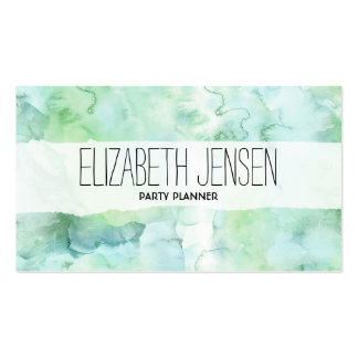 Mint Green Watercolor Businesscard Pack Of Standard Business Cards