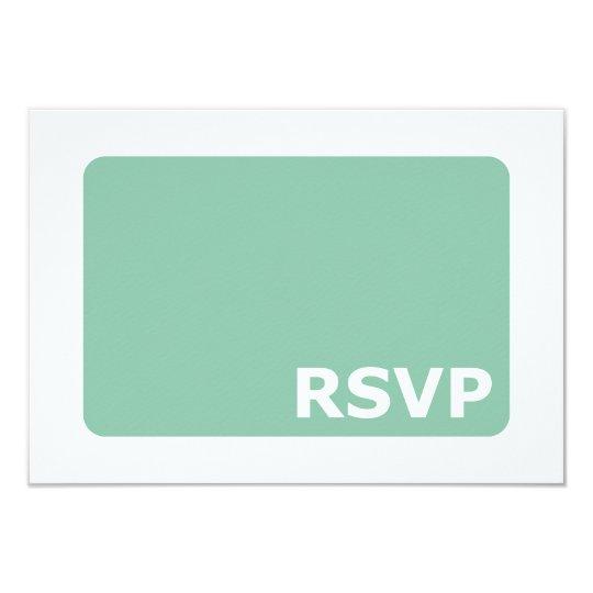 Mint Green Wedding RSVP Card
