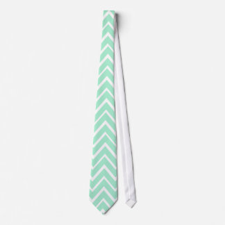 Mint green whimsical zigzag chevron pattern tie