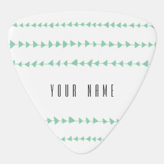 Mint Green White Aztec Arrows Pattern Plectrum