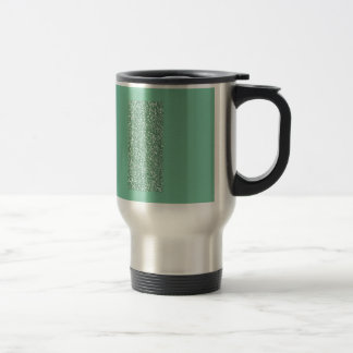 Mint Green with faux glitter Stainless Steel Travel Mug