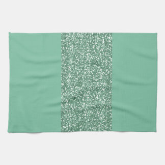 Mint Green with faux glitter Tea Towel
