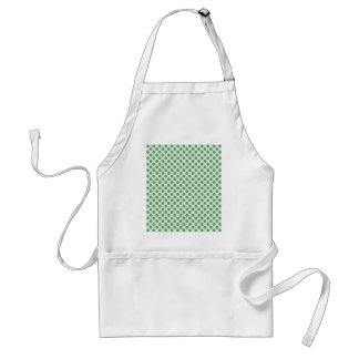 Mint Green With Grey Polka Dots Standard Apron
