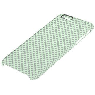 Mint Green With Grey Polka Dots by Shirley Taylor Clear iPhone 6 Plus Case